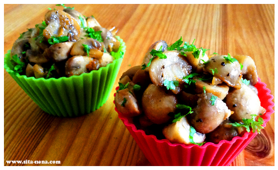 CUPTAPA: GARLIC MUSHROOMS (VEGAN) / RECIPE