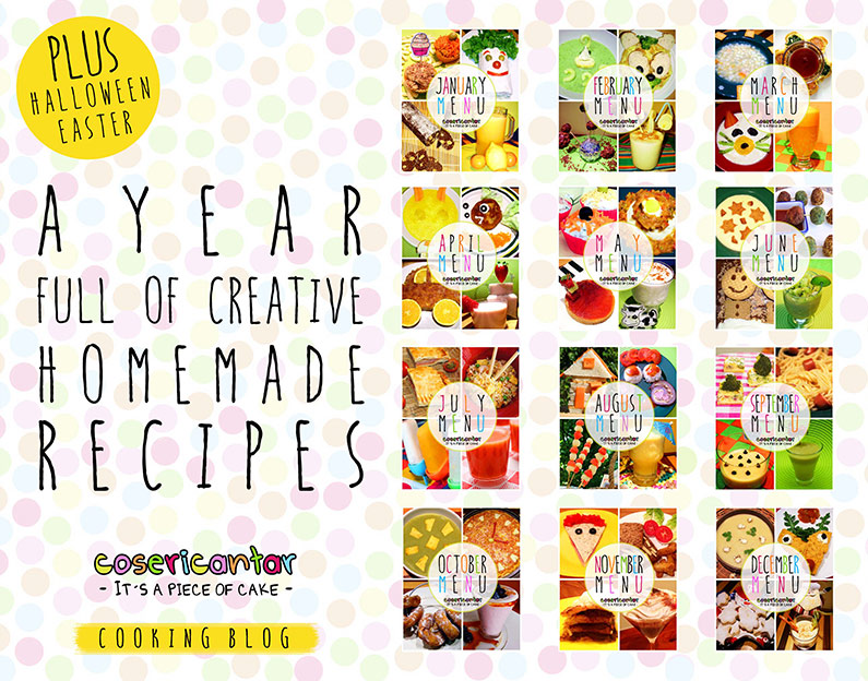 YUMMY CALENDAR: 12 MENUS + RECIPES (VEGAN VERSION INCLUDED) / COSERICANTAR BLOG