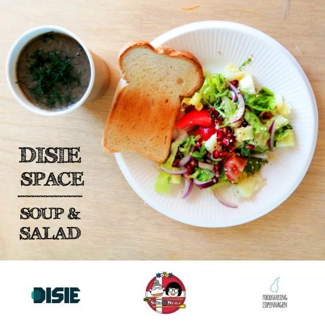 Champignon soup & salad // food rescue