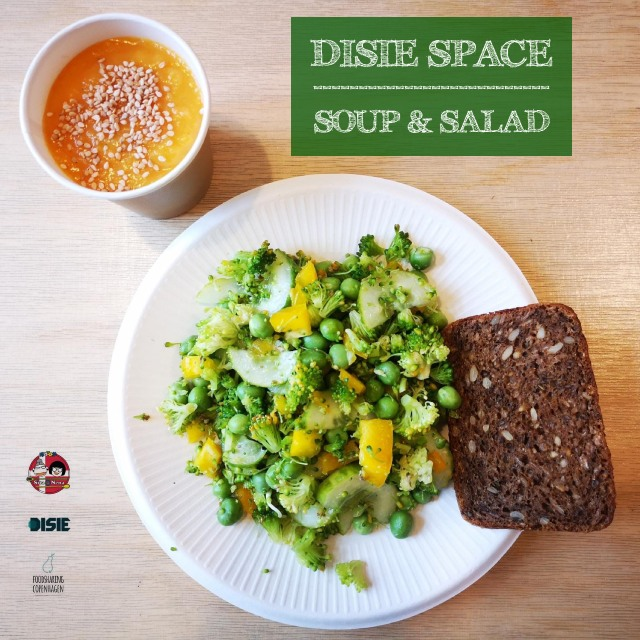 Sweet potato soup & salad // food rescue