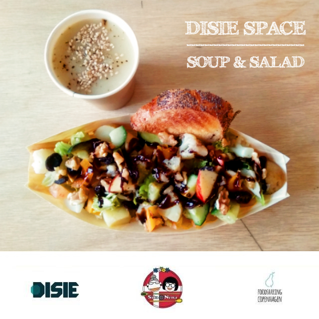 Turnip soup & salad // food rescue