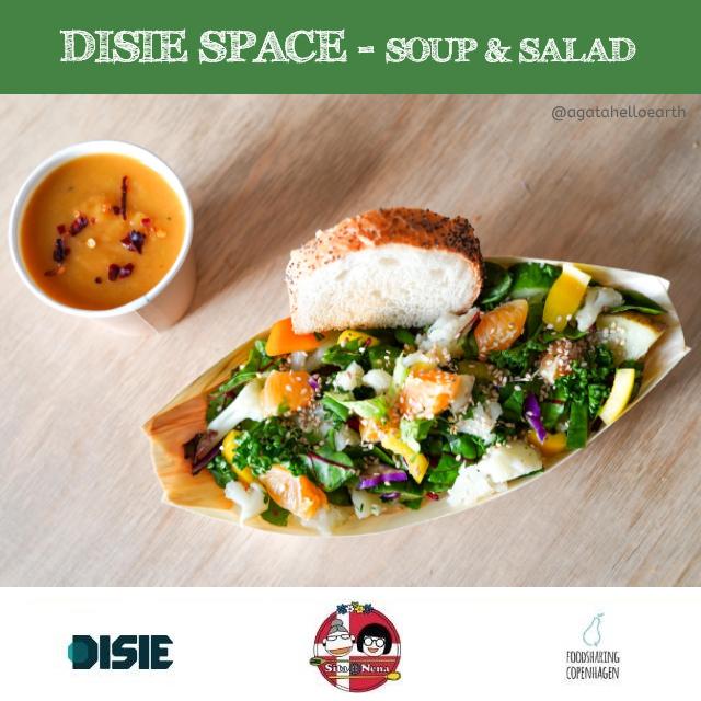 Carrot pumpkin soup & salad // food rescue